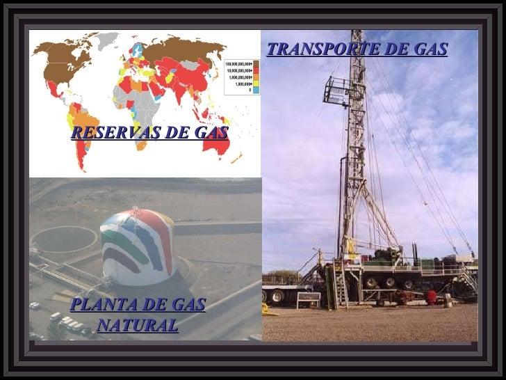 RESERVAS DE GAS TRANSPORTE DE GAS PLANTA DE GAS NATURAL