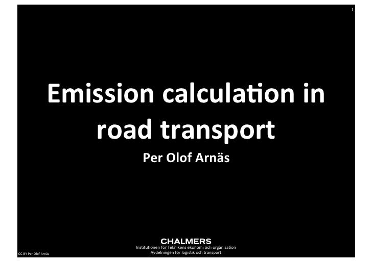 1                            Emission calcula,on in                                road transport                 ...