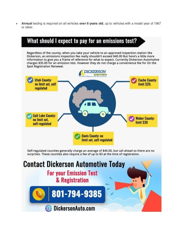 Emissions Test Utah >> Emissions Testing Amp Registration Renewal In Utah