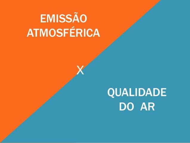 EMISSÃOATMOSFÉRICA       X              QUALIDADE                DO AR