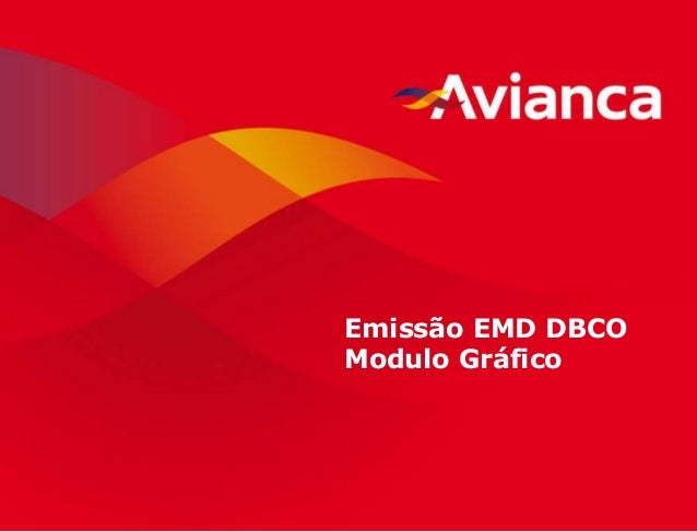1 Emissão EMD DBCO Modulo Gráfico