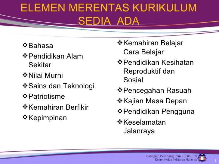 <ul><li>Bahasa </li></ul><ul><li>Pendidikan Alam Sekitar </li></ul><ul><li>Nilai Murni </li></ul><ul><li>Sains dan Teknolo...