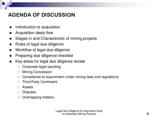 EMLI Training-Legal Due Diligence for Acquisition Deal in Indonesian Mining Projects Slide 2