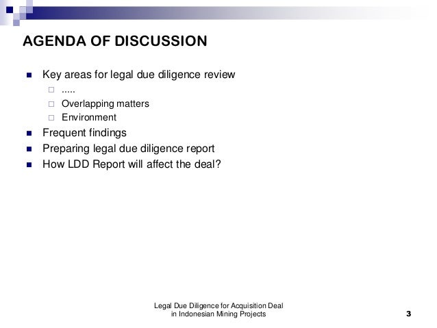 EMLI Training-Legal Due Diligence for Acquisition Deal in Indonesian Mining Projects Slide 3