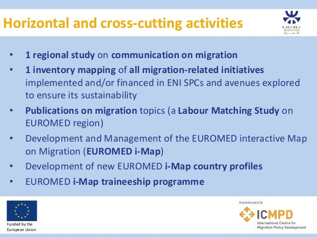 Horizontal and cross-cutting activities Funded by the European Union • 1 regional study on communication on migration • 1 ...