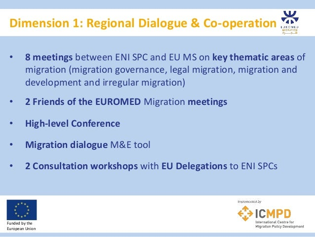 Dimension 1: Regional Dialogue & Co-operation Funded by the European Union • 8 meetings between ENI SPC and EU MS on key t...