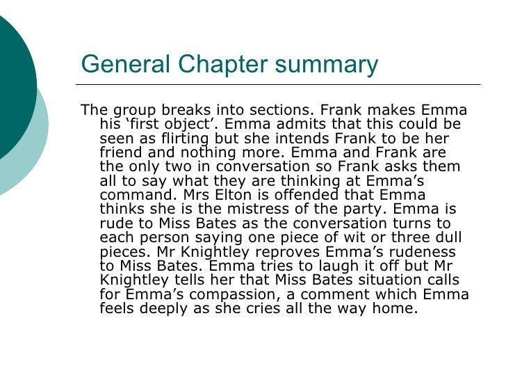 summary of jane austen emma