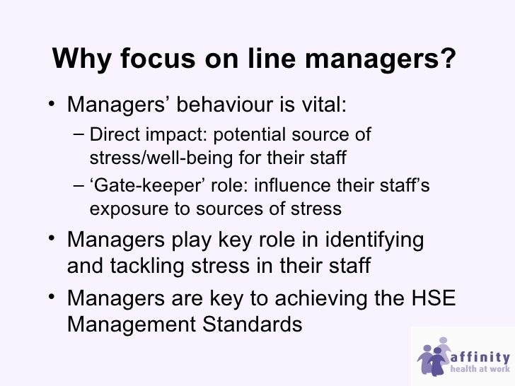 The vital role of line managers in preventing and reducing stress at …