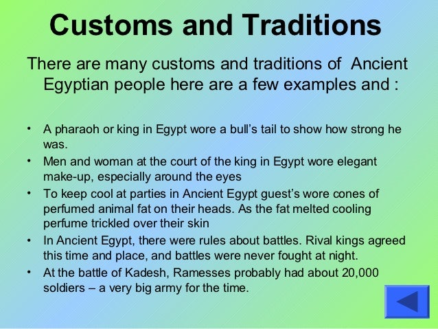 Ancient egyptian customs and traditions