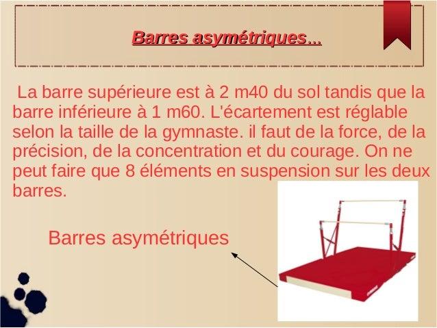 La barre supérieure est à 2 m40 du sol tandis que la barre inférieure à 1 m60. L'écartement est réglable selon la taille d...