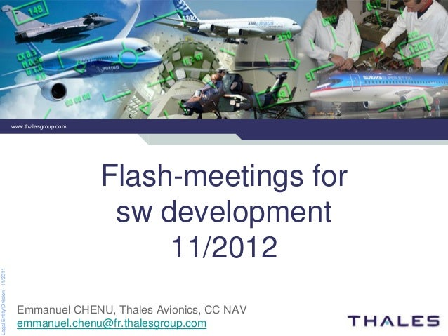www.thalesgroup.com                                                        Flash-meetings for                             ...
