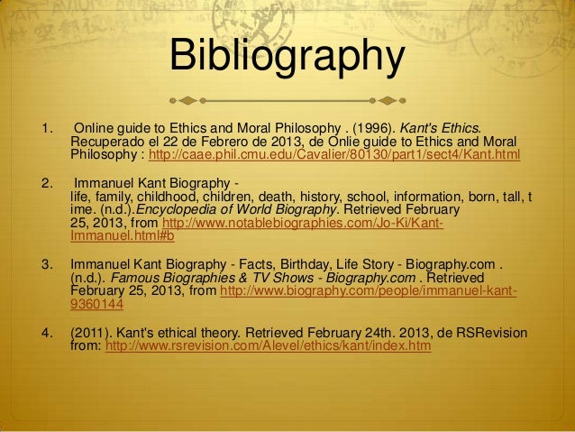Biography of emmanuel kant