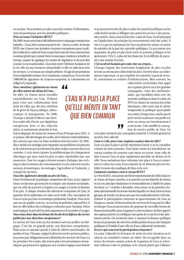 Emmanuel petrella, responsable scientifique de l'institut européen de recherche sur la politique de l'eau Slide 2