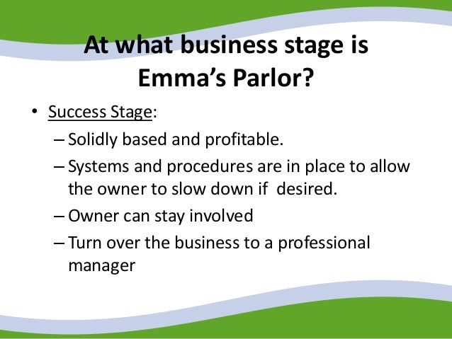 at what business stage is emma s parlor at what stage is her web based organic tea business what syn Support all about jazz and jazz near you if you shop at any of the stores below, please initiate your purchase from all about jazz when you do, all about jazz will receive a sales commission.