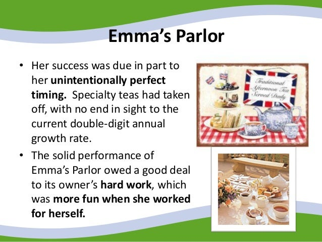 emmas parlor Emma's tea spot: the former green onion market space located along harford road in hamilton is now home to this british tea parlor from husband-and-wife.