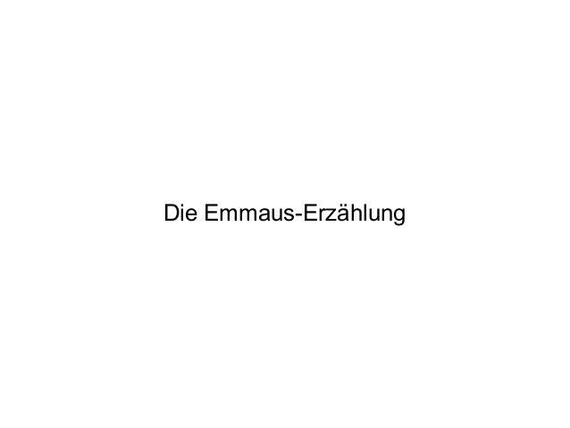 Die Emmaus-Erzählung