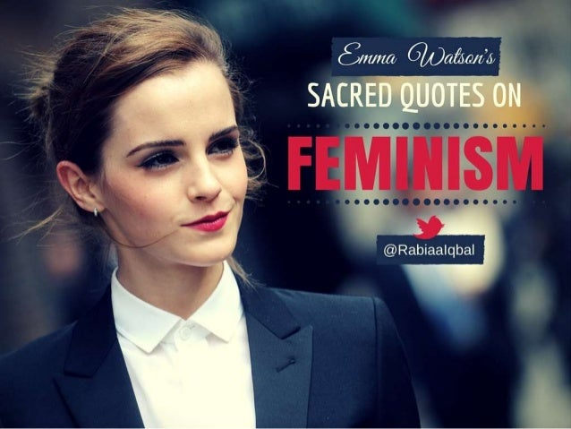 "Emma Watson's sacred quotes on ""FEMINISM""."