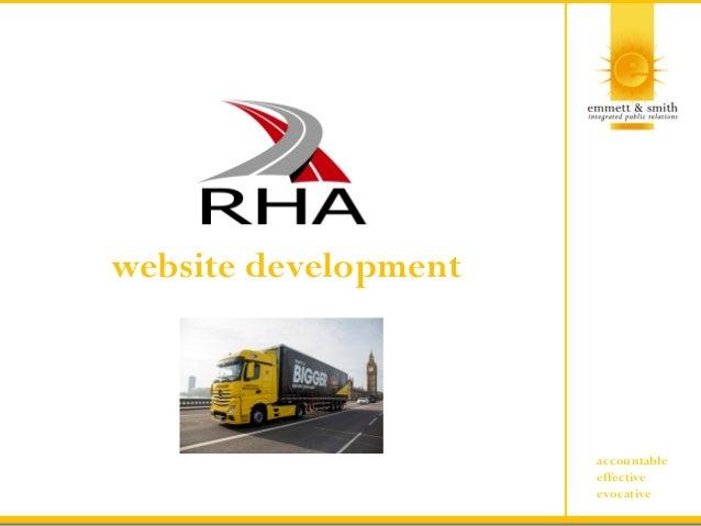 accountable effective evocative website development