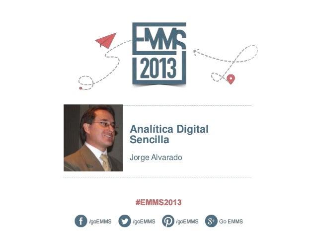 Analítica DigitalSencillaJorge Alvarado