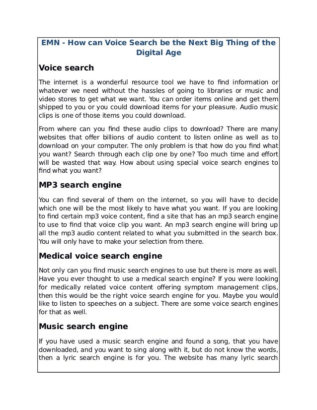 Lyric song lyric search engine : emn-how-can-voice-search -be-the-next-big-thing-of-the-digital-age-1-638.jpg?cb=1498211005