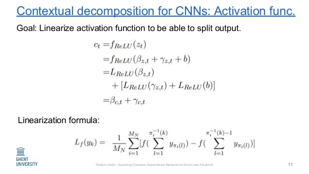 Fréderic Godin - Explaining Character-Aware Neural Networks for Word-Level Prediction Contextual decomposition for CNNs: A...