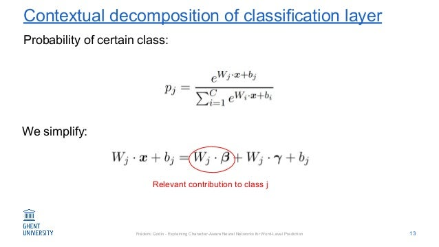 Fréderic Godin - Explaining Character-Aware Neural Networks for Word-Level Prediction Contextual decomposition of classifi...