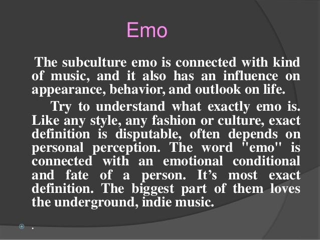 Emo and Goth