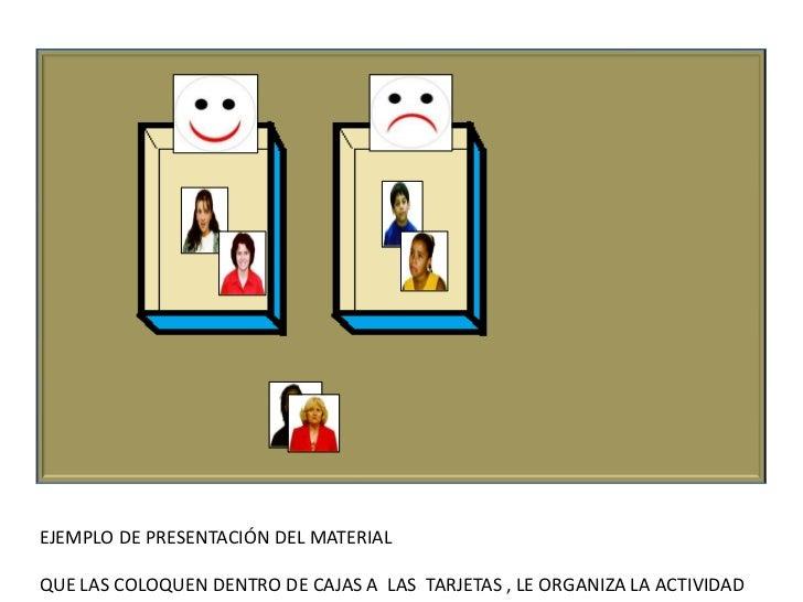 EJEMPLO DE PRESENTACIÓN DEL MATERIALQUE LAS COLOQUEN DENTRO DEL MARCO DE UN TARJETÓN , LE ORGANIZA LAACTIVIDAD