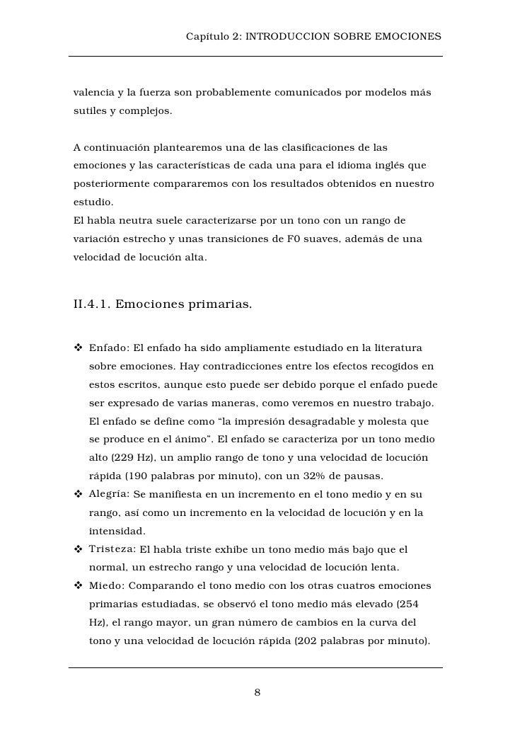 Capítulo 2: INTRODUCCION SOBRE EMOCIONESvalencia y la fuerza son probablemente comunicados por modelos mássutiles y comple...