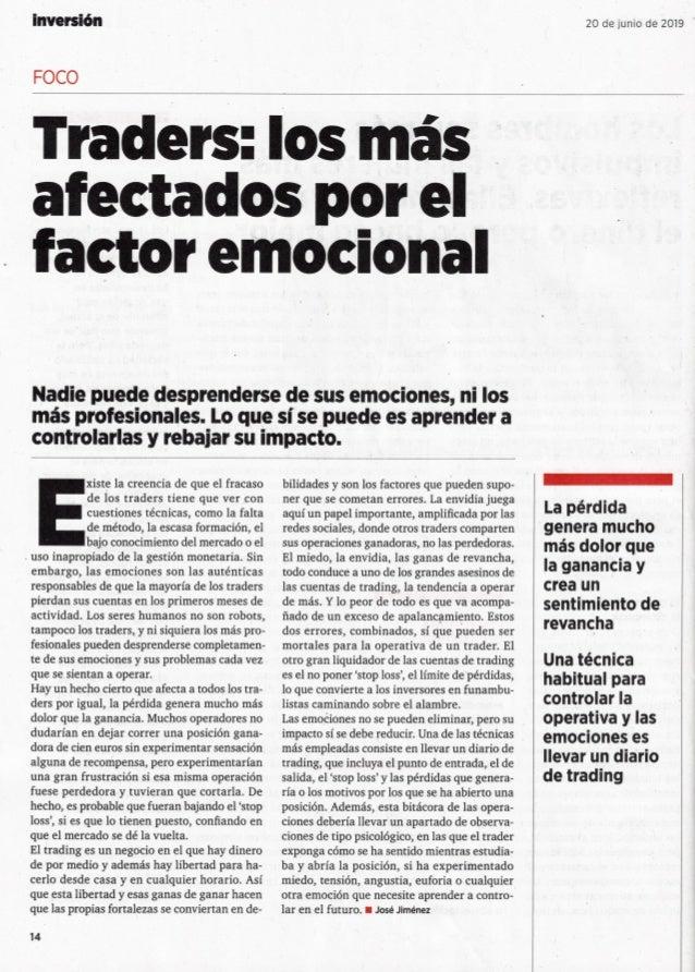 Factor emocional de los Traders