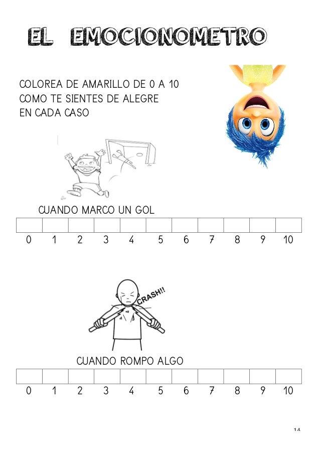 14   COLOREA DE AMARILLO DE 0 A 10 COMO TE SIENTES DE ALEGRE EN CADA CASO CUANDO MARCO UN GOL 0 1 2 3 4 5 6 7 8 9 10 C...