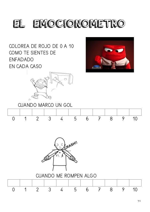 21   COLOREA DE ROJO DE 0 A 10 COMO TE SIENTES DE ENFADADO EN CADA CASO CUANDO MARCO UN GOL 0 1 2 3 4 5 6 7 8 9 10 CUA...