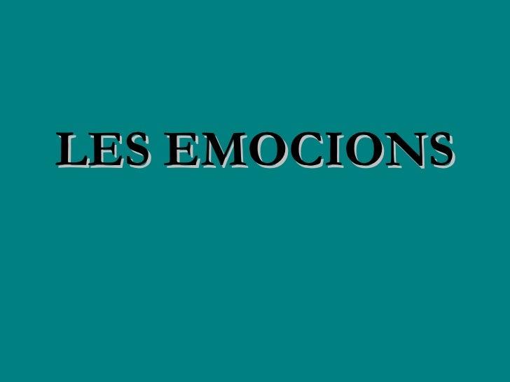 LES EMOCIONS