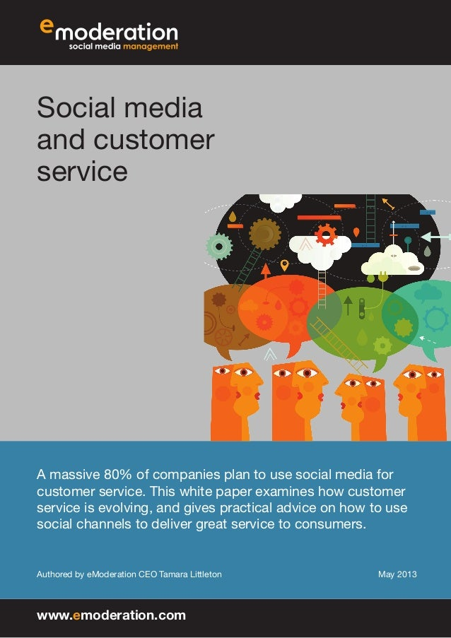 Social media and customer service A massive 80% of companies plan to use social media for customer service. This white pap...