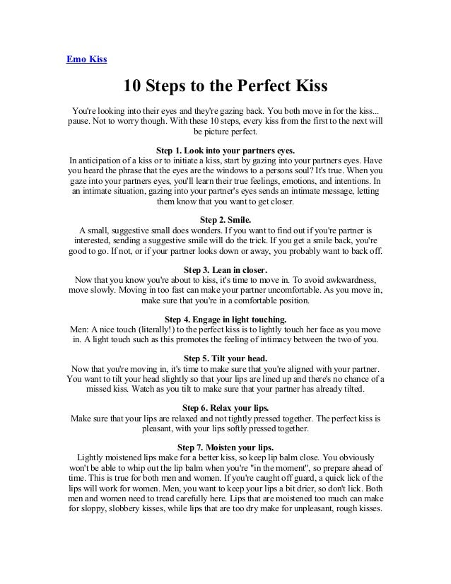How to kiss perfectly step by step
