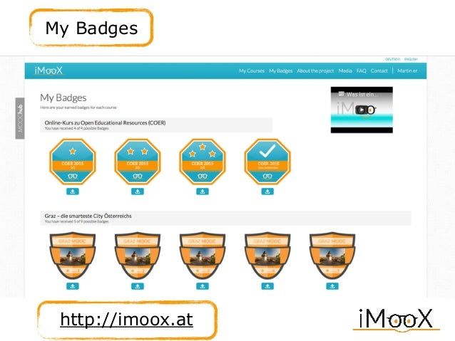 My Badges http://imoox.at