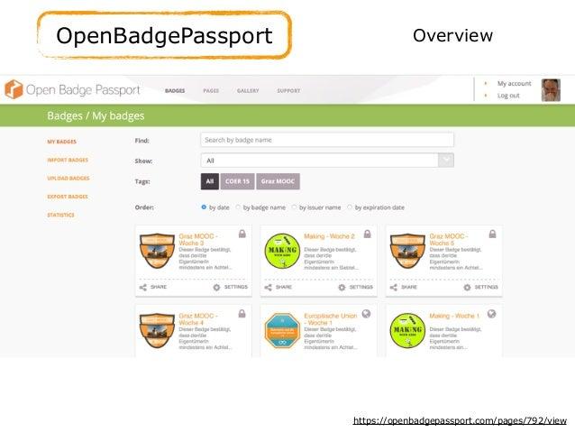 OpenBadgePassport https://openbadgepassport.com/pages/792/view Overview
