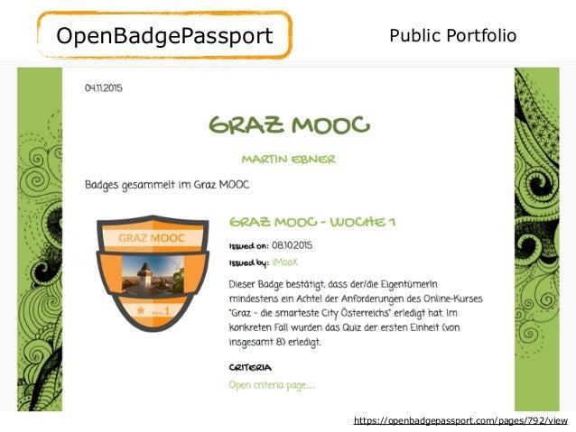 OpenBadgePassport https://openbadgepassport.com/pages/792/view Public Portfolio