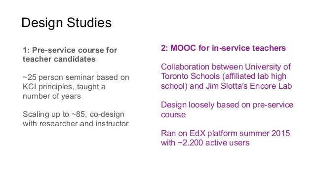 A principled approach to the design of collaborative MOOC curricula Slide 2
