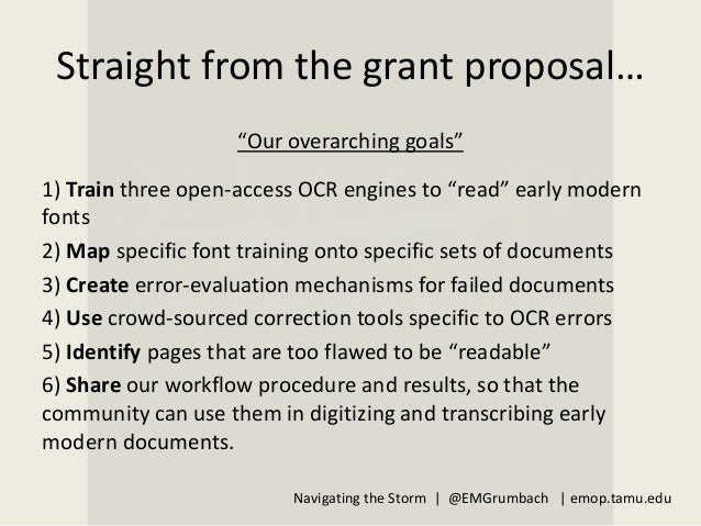 Navigating the Storm: eMOP, Big DH Projects, and Agile Steering Standards Slide 3