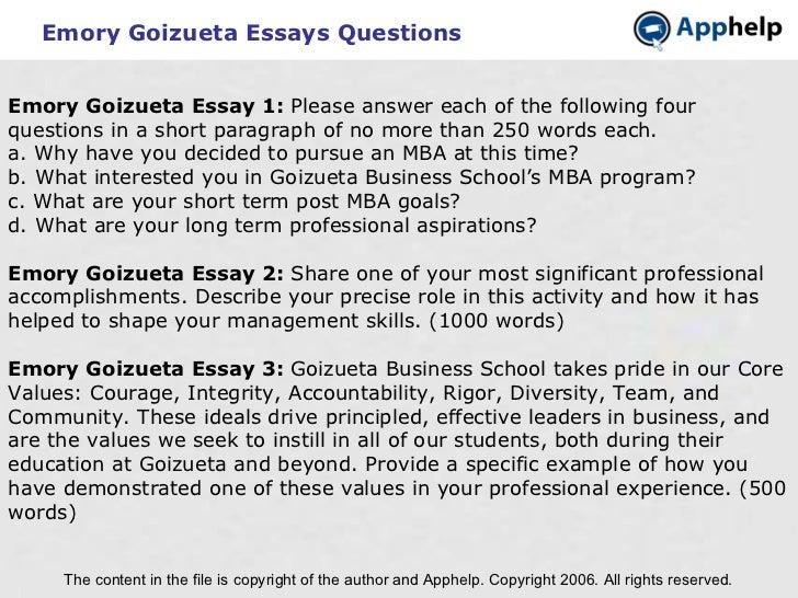 why mba essay