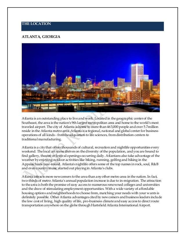 developmental therapeutics 9 the location atlanta