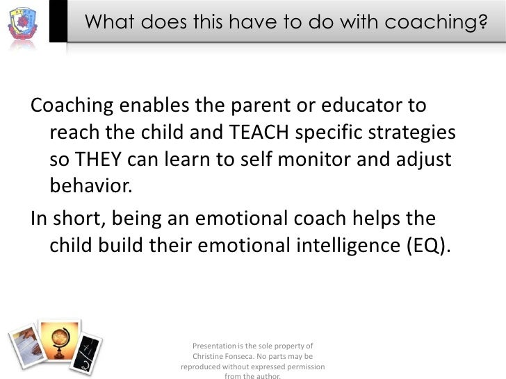 What does this have to do with coaching?Coaching enables the parent or educator to  reach the child and TEACH specific str...