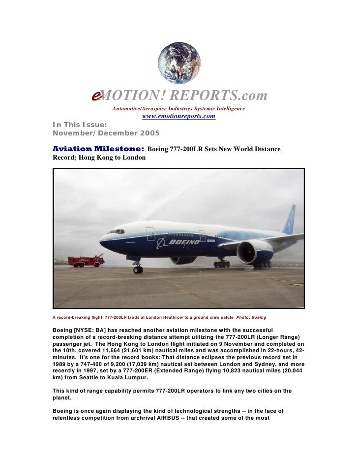 eMOTION! REPORTS.com                            Automotive/Aerospace Industries Systemic Intelligence                     ...