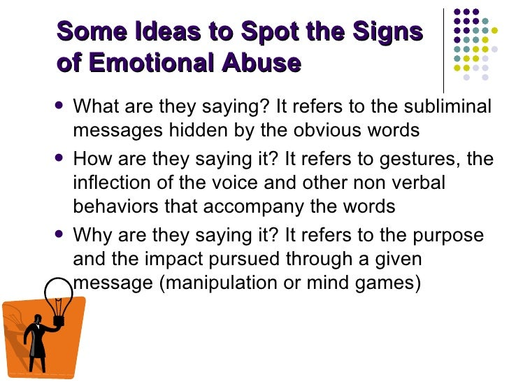 Verbal and mental abuse signs