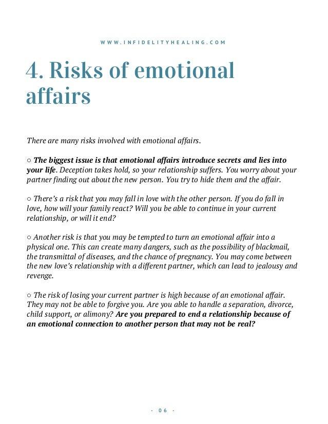 Emotional affairs turning physical