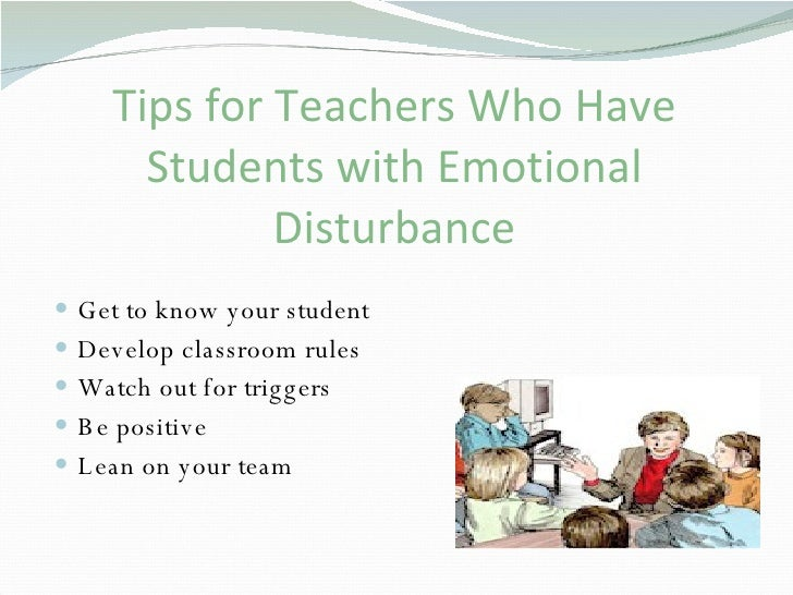 Emotionally Disturbed Students At >> Emotional Disorders Presentation