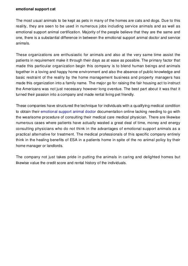 Emotional Support Animal Certification Form Erkalnathandedecker