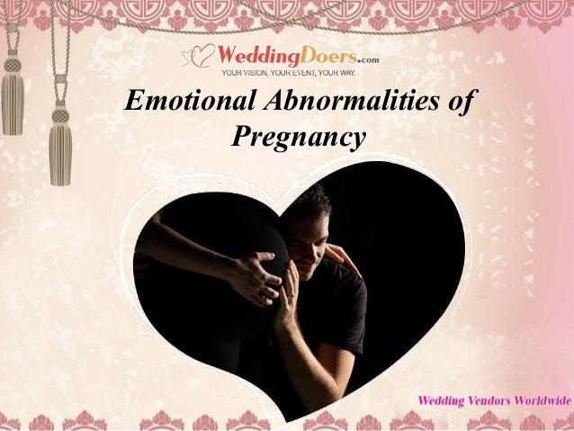 Emotional Abnormalities of Pregnancy