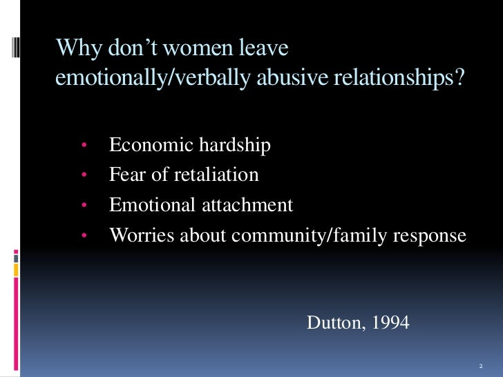 Verbal And Emotional Abuse In Relationships